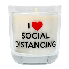 I Heart Social Distancing Candle