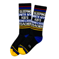 Sleeping With My Kids Homeschool Teacher Socks