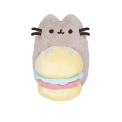 Deluxe Pusheen with Hamburger - 10th Anniversary Limited Edition
