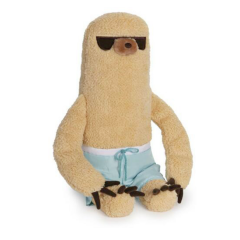 Pusheen Sloth in Board Shorts