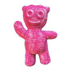 SOUR PATCH KIDS Pink Kid Shaped Pillow