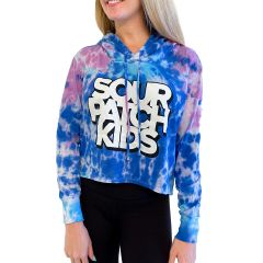 SOUR PATCH KIDS Tie-Dye Cropped Hooded Tee