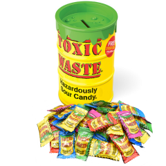 Giant Toxic Waste Sour Candy Bank