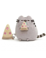 Pusheen Plush Holding Pizza with Keychain