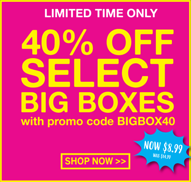 Select Big Boxes 40% off at IT'SUGAR