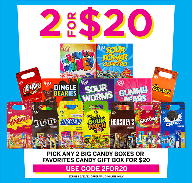All Your Favorite Candy 2 for $20 from IT'SUGAR