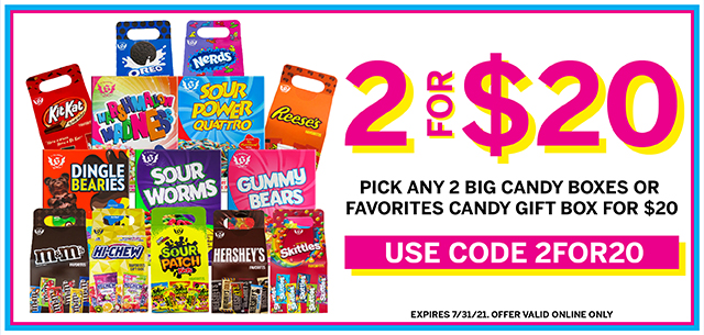 Your Favorite Candy is 2 for $20 at IT'SUGAR