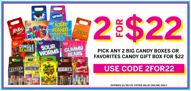 Your Favorite Candy is 2 for $22 at IT'SUGAR