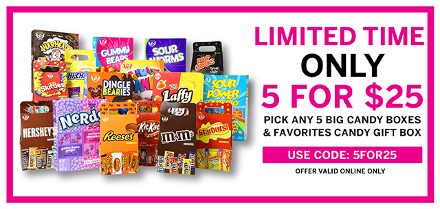 Your Favorite Candy 5 for $25 at IT'SUGAR