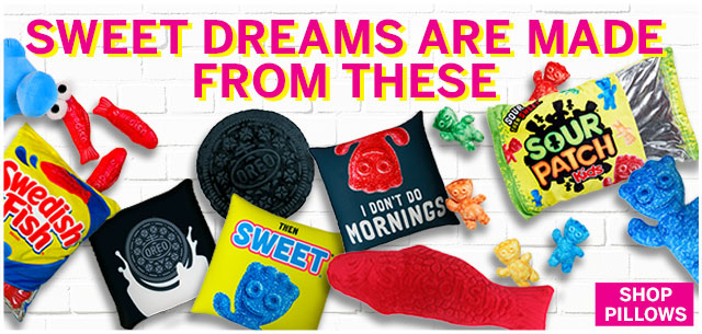 Your Favorite Candy Characters in Pillows from IT'SUGAR