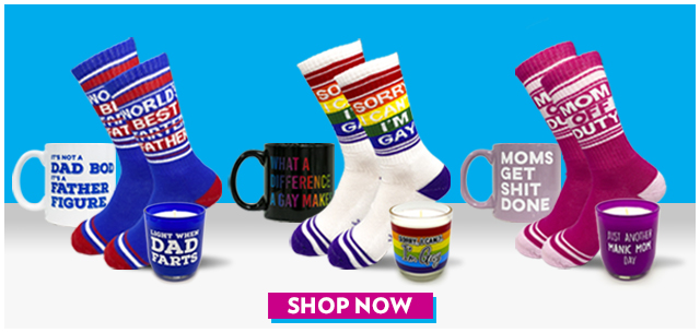 Humorous Socks, Coffee Mugs and Candles from IT'SUGAR