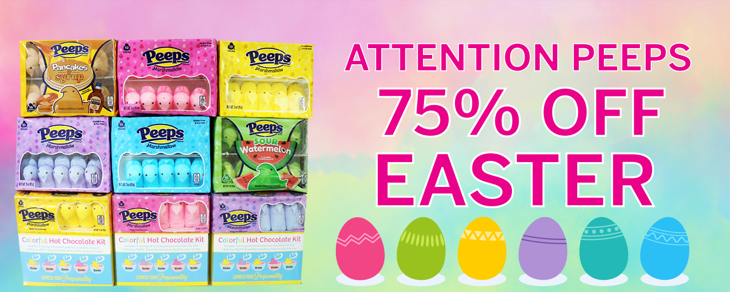 75% off Easter candy at IT'SUGAR